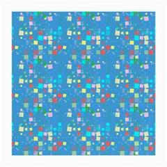 Colorful Squares Pattern Glasses Cloth (medium, Two Sides)