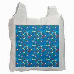 Colorful Squares Pattern Recycle Bag (two Side) by LalyLauraFLM