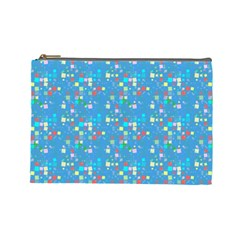 Colorful Squares Pattern Cosmetic Bag (large) by LalyLauraFLM