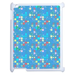 Colorful Squares Pattern Apple Ipad 2 Case (white) by LalyLauraFLM