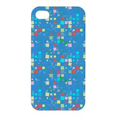 Colorful Squares Pattern Apple Iphone 4/4s Premium Hardshell Case by LalyLauraFLM