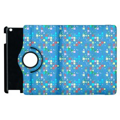 Colorful Squares Pattern Apple Ipad 3/4 Flip 360 Case by LalyLauraFLM