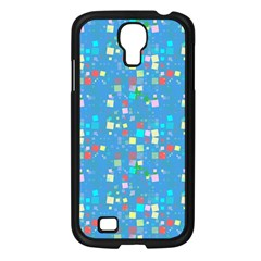 Colorful Squares Pattern Samsung Galaxy S4 I9500/ I9505 Case (black) by LalyLauraFLM