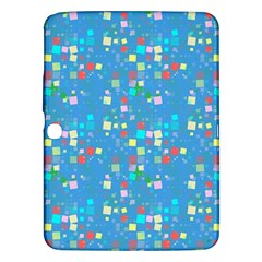 Colorful Squares Pattern Samsung Galaxy Tab 3 (10 1 ) P5200 Hardshell Case  by LalyLauraFLM