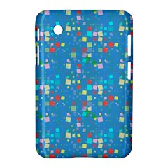 Colorful Squares Pattern Samsung Galaxy Tab 2 (7 ) P3100 Hardshell Case  by LalyLauraFLM
