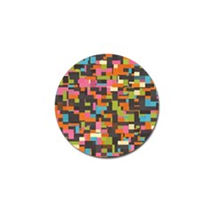 Colorful Pixels Golf Ball Marker by LalyLauraFLM