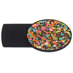 Colorful pixels USB Flash Drive Oval (1 GB) by LalyLauraFLM