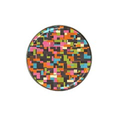 Colorful Pixels Hat Clip Ball Marker (4 Pack) by LalyLauraFLM