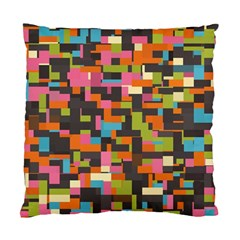 Colorful Pixels Cushion Case (two Sides) by LalyLauraFLM
