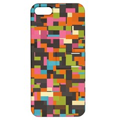 Colorful Pixels Apple Iphone 5 Hardshell Case With Stand by LalyLauraFLM