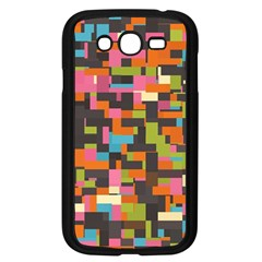 Colorful Pixels Samsung Galaxy Grand Duos I9082 Case (black) by LalyLauraFLM
