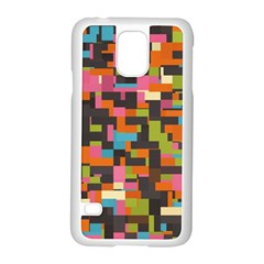 Colorful Pixels Samsung Galaxy S5 Case (white)
