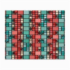 Red And Green Squares Glasses Cloth (small) by LalyLauraFLM