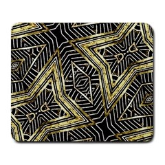 Geometric Tribal Golden Pattern Print Large Mouse Pad (rectangle) by dflcprints
