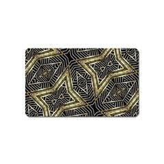 Geometric Tribal Golden Pattern Print Magnet (name Card) by dflcprints