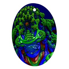 Abstract 1x Oval Ornament