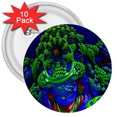 Abstract 1x 3  Button (10 Pack) by icarusismartdesigns