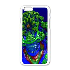 Abstract 1x Apple Iphone 6 White Enamel Case by icarusismartdesigns