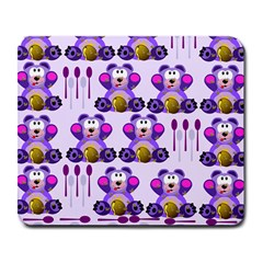 Fms Honey Bear With Spoons Large Mouse Pad (rectangle) by FunWithFibro