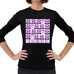 Fms Honey Bear With Spoons Women s Long Sleeve T Shirt (dark Colored) by FunWithFibro