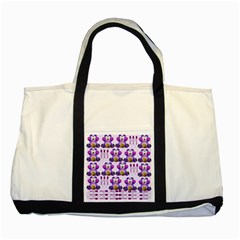 Fms Honey Bear With Spoons Two Toned Tote Bag by FunWithFibro