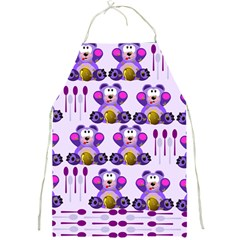 Fms Honey Bear With Spoons Apron by FunWithFibro