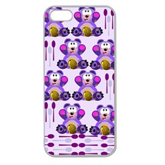 Fms Honey Bear With Spoons Apple Seamless Iphone 5 Case (clear) by FunWithFibro