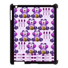 Fms Honey Bear With Spoons Apple Ipad 3/4 Case (black) by FunWithFibro