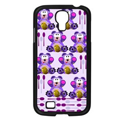 Fms Honey Bear With Spoons Samsung Galaxy S4 I9500/ I9505 Case (black) by FunWithFibro