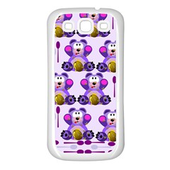 Fms Honey Bear With Spoons Samsung Galaxy S3 Back Case (white) by FunWithFibro