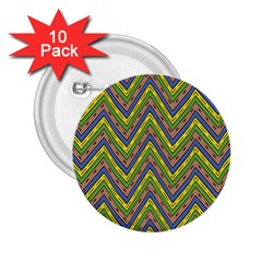 Zig zag pattern 2.25  Button (10 pack) by LalyLauraFLM