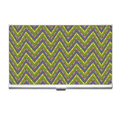 Zig Zag Pattern Business Card Holder by LalyLauraFLM