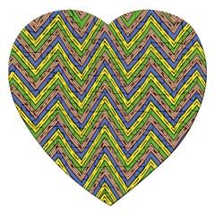 Zig Zag Pattern Jigsaw Puzzle (heart) by LalyLauraFLM
