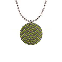 Zig Zag Pattern 1  Button Necklace by LalyLauraFLM