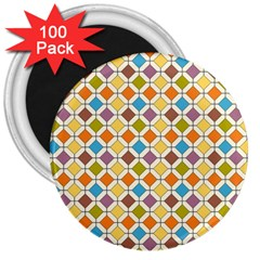 Colorful Rhombus Pattern 3  Magnet (100 Pack) by LalyLauraFLM