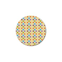 Colorful Rhombus Pattern Golf Ball Marker (4 Pack) by LalyLauraFLM