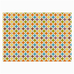 Colorful Rhombus Pattern Glasses Cloth (large, Two Sides) by LalyLauraFLM