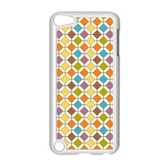 Colorful Rhombus Pattern Apple Ipod Touch 5 Case (white) by LalyLauraFLM