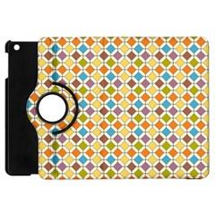 Colorful Rhombus Pattern Apple Ipad Mini Flip 360 Case by LalyLauraFLM