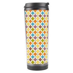 Colorful Rhombus Pattern Travel Tumbler by LalyLauraFLM