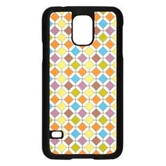 Colorful Rhombus Pattern Samsung Galaxy S5 Case (black)