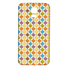 Colorful Rhombus Pattern Samsung Galaxy S5 Back Case (white) by LalyLauraFLM