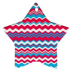 Waves Pattern Ornament (star) by LalyLauraFLM
