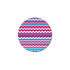 Waves Pattern Golf Ball Marker by LalyLauraFLM