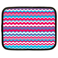 Waves Pattern Netbook Case (xxl) by LalyLauraFLM