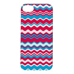 Waves Pattern Apple Iphone 5s Hardshell Case by LalyLauraFLM