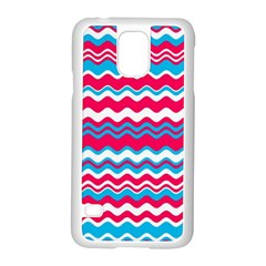 Waves Pattern Samsung Galaxy S5 Case (white) by LalyLauraFLM