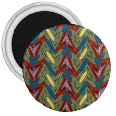 Shapes Pattern 3  Magnet by LalyLauraFLM