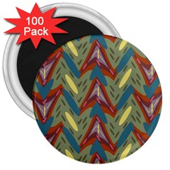 Shapes Pattern 3  Magnet (100 Pack) by LalyLauraFLM