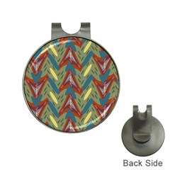 Shapes Pattern Golf Ball Marker Hat Clip by LalyLauraFLM